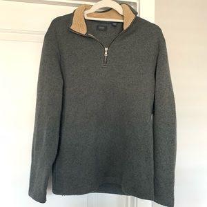 Dark gray quarter zip pullover